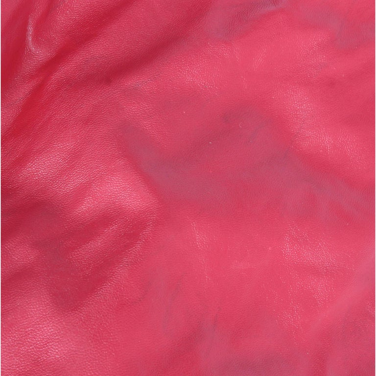 Women's 2000s Marni Magenta Leather Design Bag For Sale