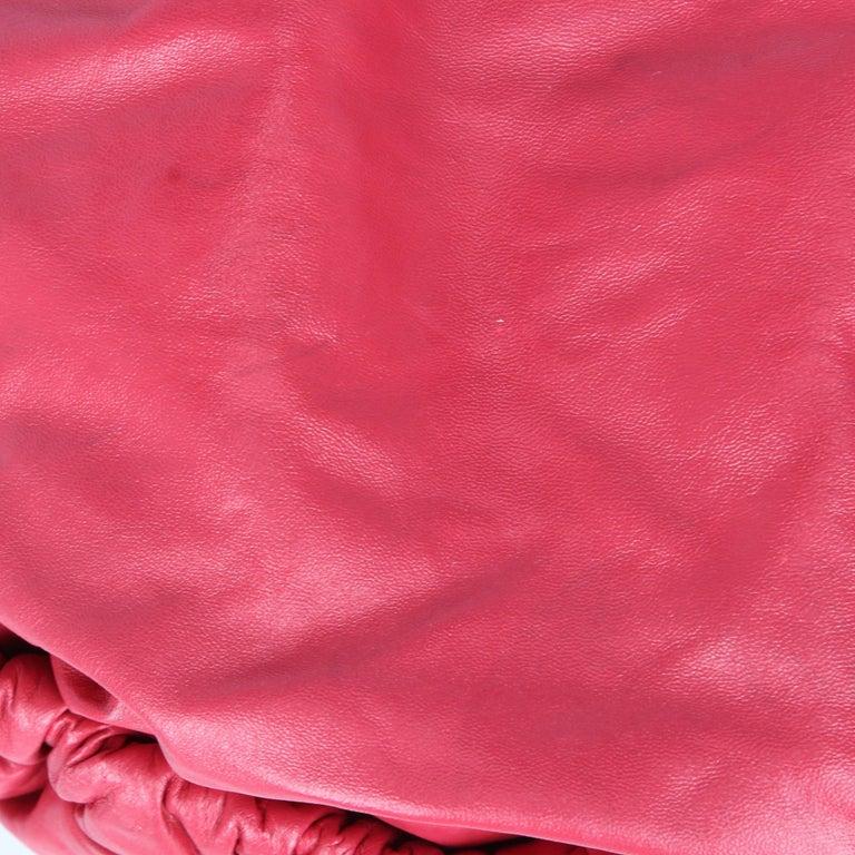 2000s Marni Magenta Leather Design Bag For Sale 1