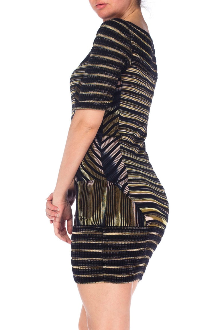 2000S Missoni Rayon Boatneck Pieced Sweater Dress For Sale 1