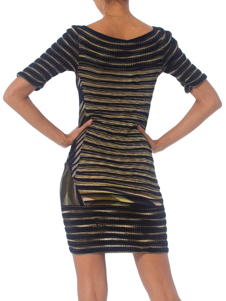 2000S Missoni Rayon Boatneck Pieced Sweater Dress For Sale 3