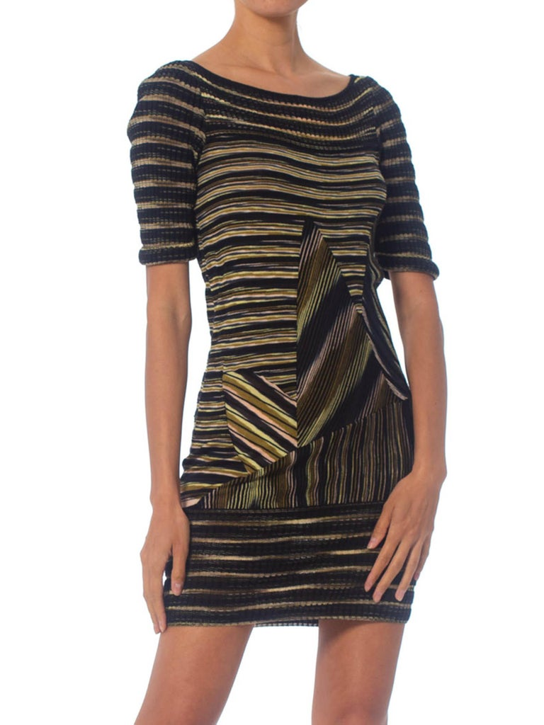 2000S Missoni Rayon Boatneck Pieced Sweater Dress For Sale 5