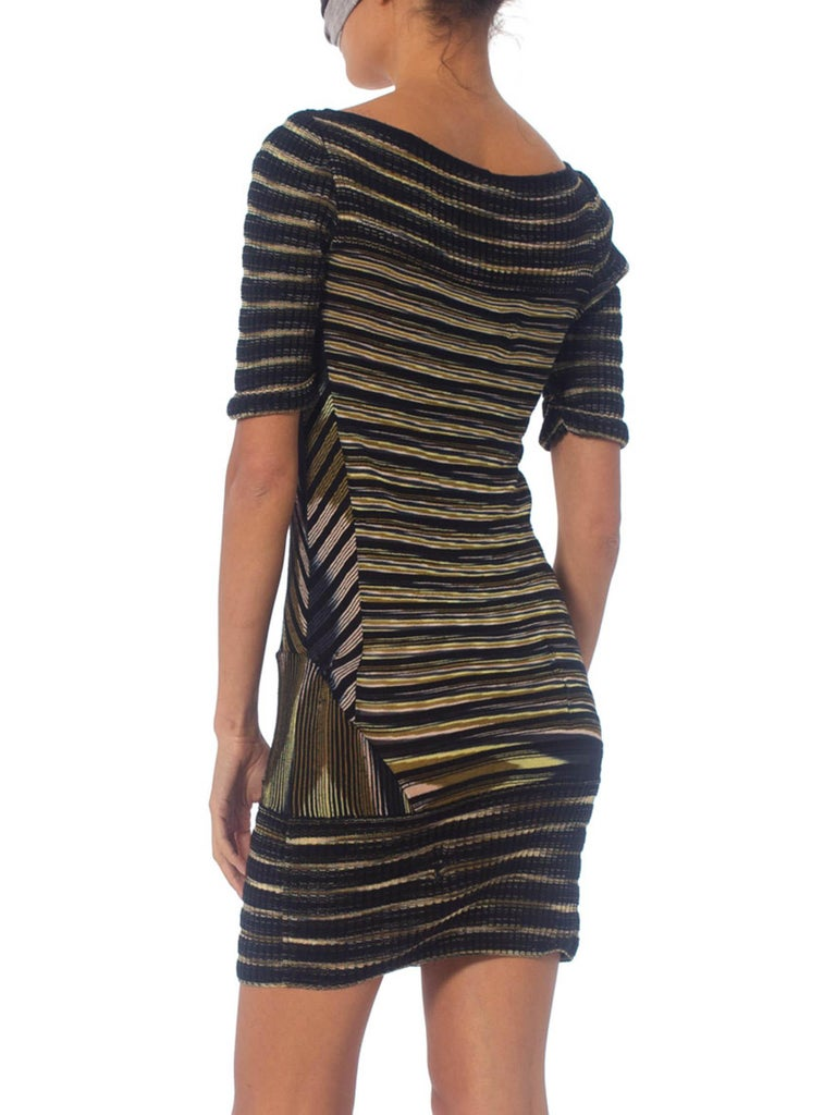 2000S Missoni Rayon Boatneck Pieced Sweater Dress For Sale 6