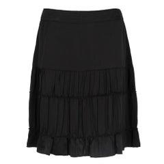 2000s Miu Miu Black Silk Skirt
