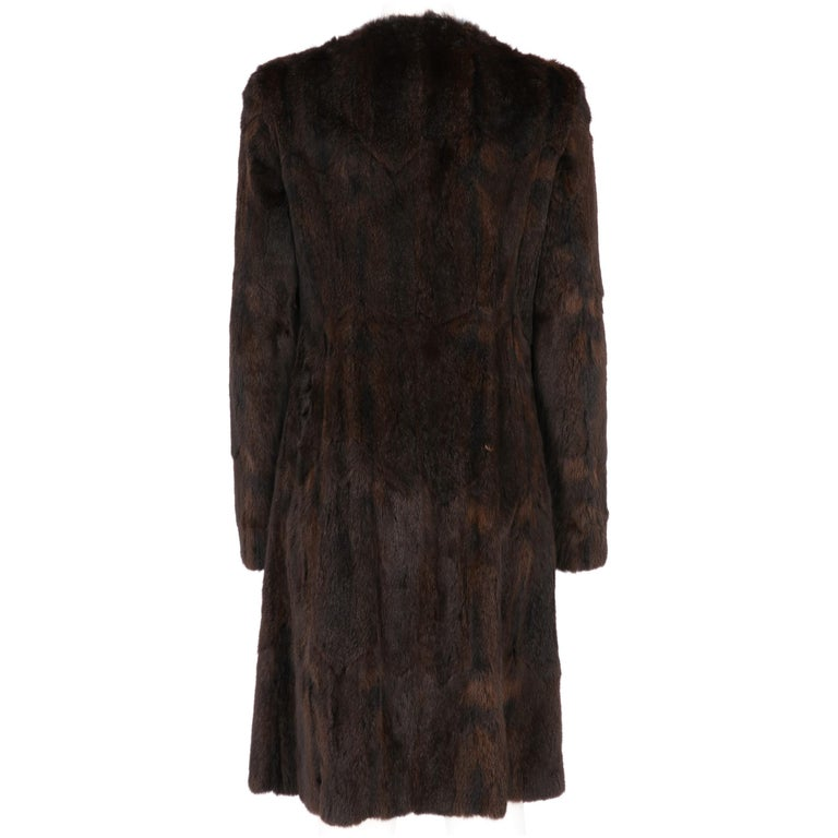 2000s Miu Miu Brown Hamster Fur Coat In Excellent Condition For Sale In Lugo (RA), IT