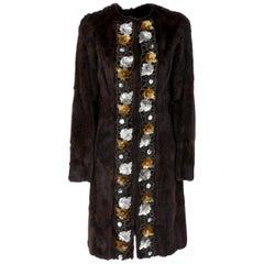 2000s Miu Miu Brown Hamster Fur Coat
