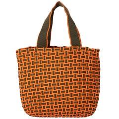 2000s Miu Miu Interwoven Nylon Handbag