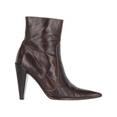 2000s Miu Miu Leather Ankle Boots
