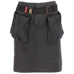 2000s Miu Miu Miniskirt With Pockets