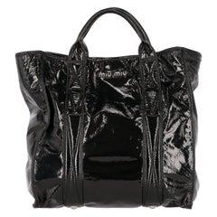2000s Miu Miu Patent Leather Tote Bag