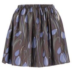 2000s Miu Miu Printed Silk Skirt