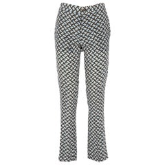 2000s Miu Miu Printed Silk Trousers