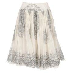 2000s Miu Miu Printed Skirt