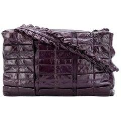 2000s MiuMiu Purple Leather Handbag