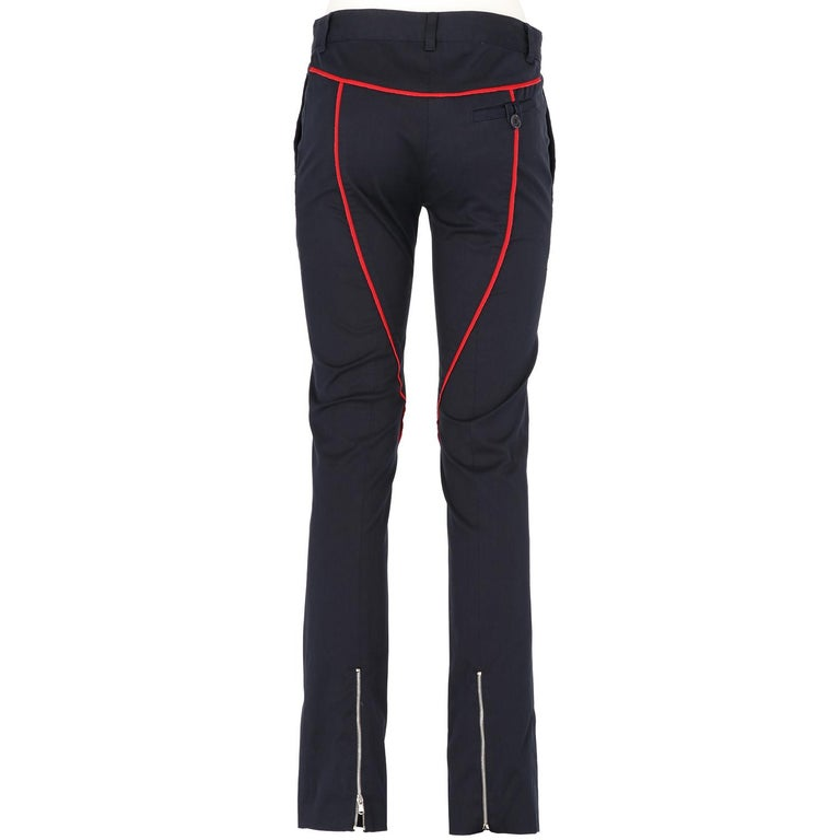 Black 2000s Moschino Cotton Trousers For Sale