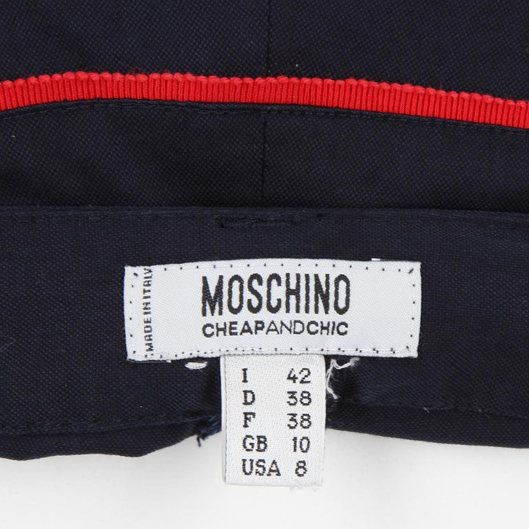 Women's 2000s Moschino Cotton Trousers For Sale
