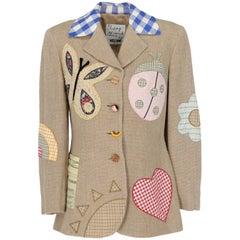 2000s Moschino Linen Patchwork Jacket