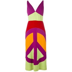 2000s Moschino Multicolor Long Dress