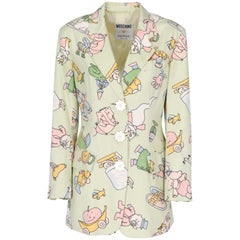 2000s Moschino Silk Print Jacket