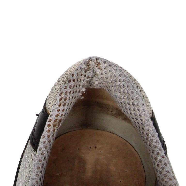 2000s Prada Bicolor Lace-up Shoes For Sale 8