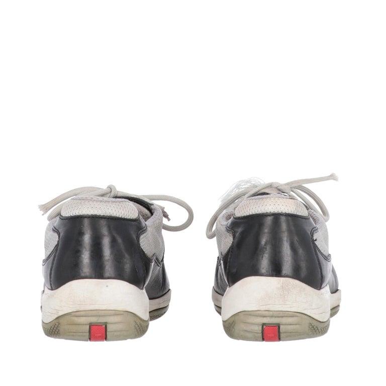Women's 2000s Prada Bicolor Lace-up Shoes For Sale