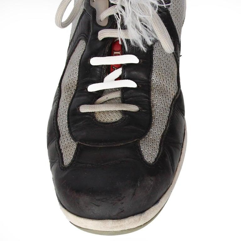 2000s Prada Bicolor Lace-up Shoes For Sale 3