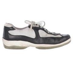 2000s Prada Bicolor Lace-up Shoes