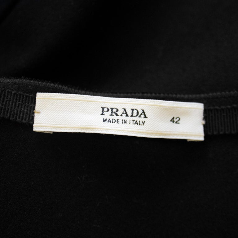 2000s Prada Black Hand Beaded Embellished Skirt  For Sale 1