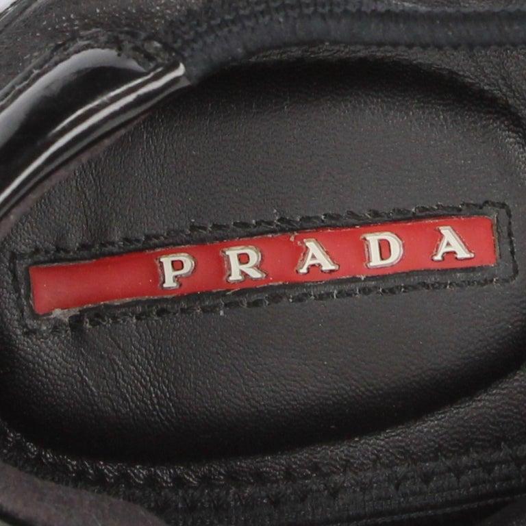 2000s Prada Black Leather Ballet Flats For Sale 4