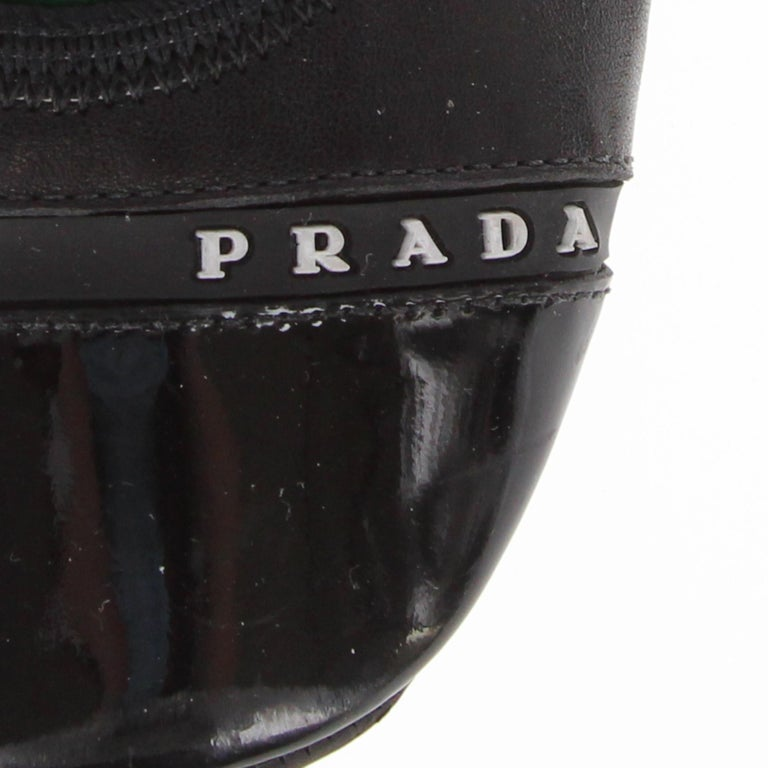 2000s Prada Black Leather Ballet Flats For Sale 5