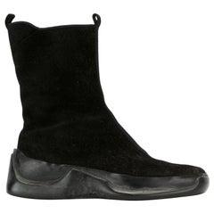 2000s Prada Black Suede Boots