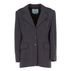 2000s Prada brown wool jacket,
