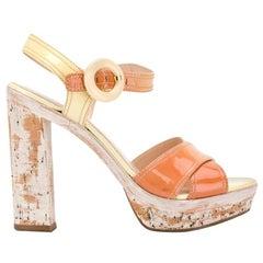 2000s Prada Cork Heels Sandals