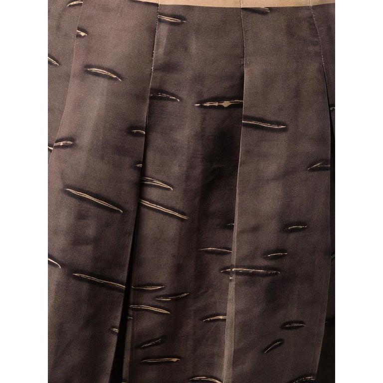 Women's 2000s Prada Pleated Brown Skirt For Sale