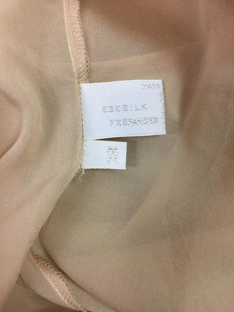Women's 2000's Prada Sheer Nude Silk Long Slip Dress For Sale