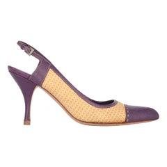 2000s Prada Slingback Heel Shoes