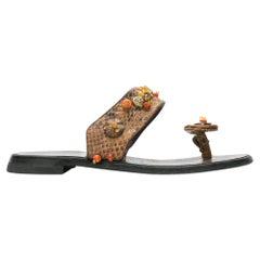 2000s Prada Snakeskin Sandals