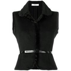 2000s Prada Wool And Mink Vest