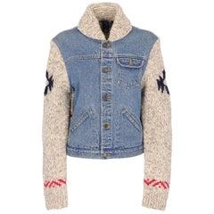 2000s Ralph Lauren Sport Denim And Knit Jacket