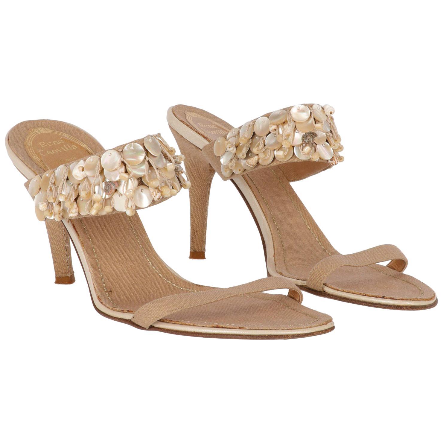 2000s René Caovilla Shells Sandals