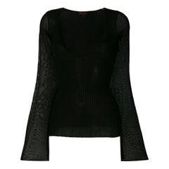 2000s Romeo Gigli Black Ribbed Sweater