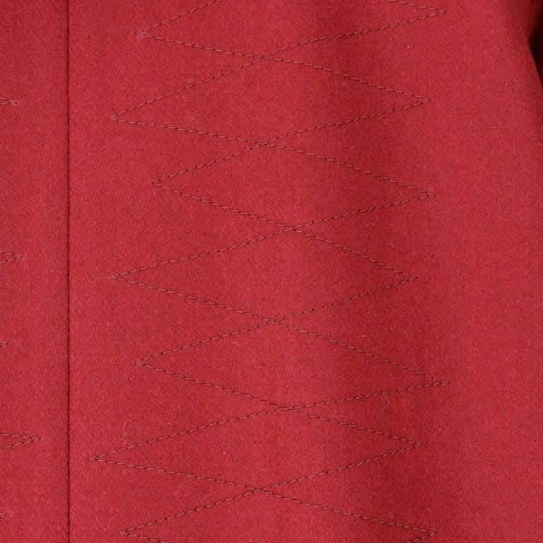 Women's 2000s Romeo Gigli Burgundy Vintage Hooded Coat For Sale