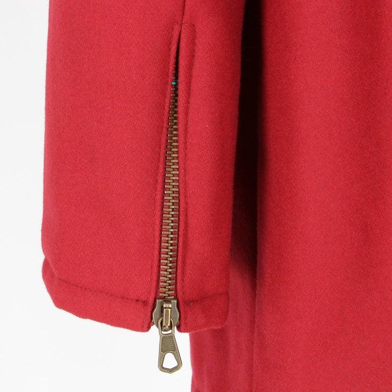2000s Romeo Gigli Burgundy Vintage Hooded Coat For Sale 1