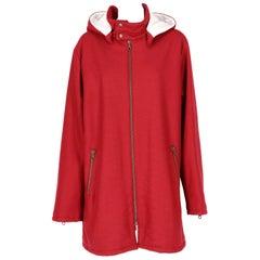 2000s Romeo Gigli Burgundy Vintage Hooded Coat
