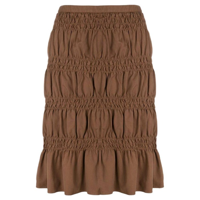 2000s Romeo Gigli Curled Skirt For Sale