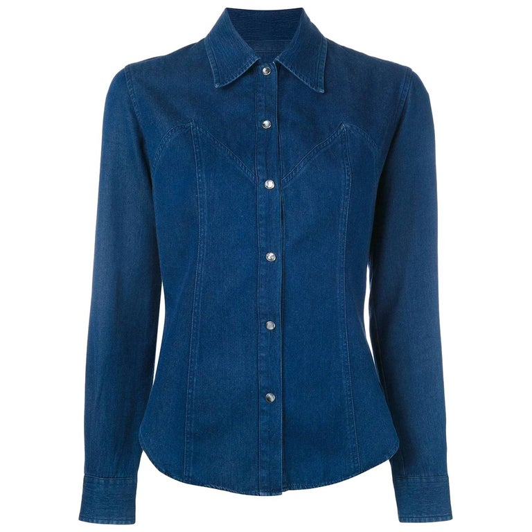 2000s Romeo Gigli Denim Shirt For Sale