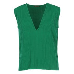2000s Romeo Gigli Green Knitted Vest