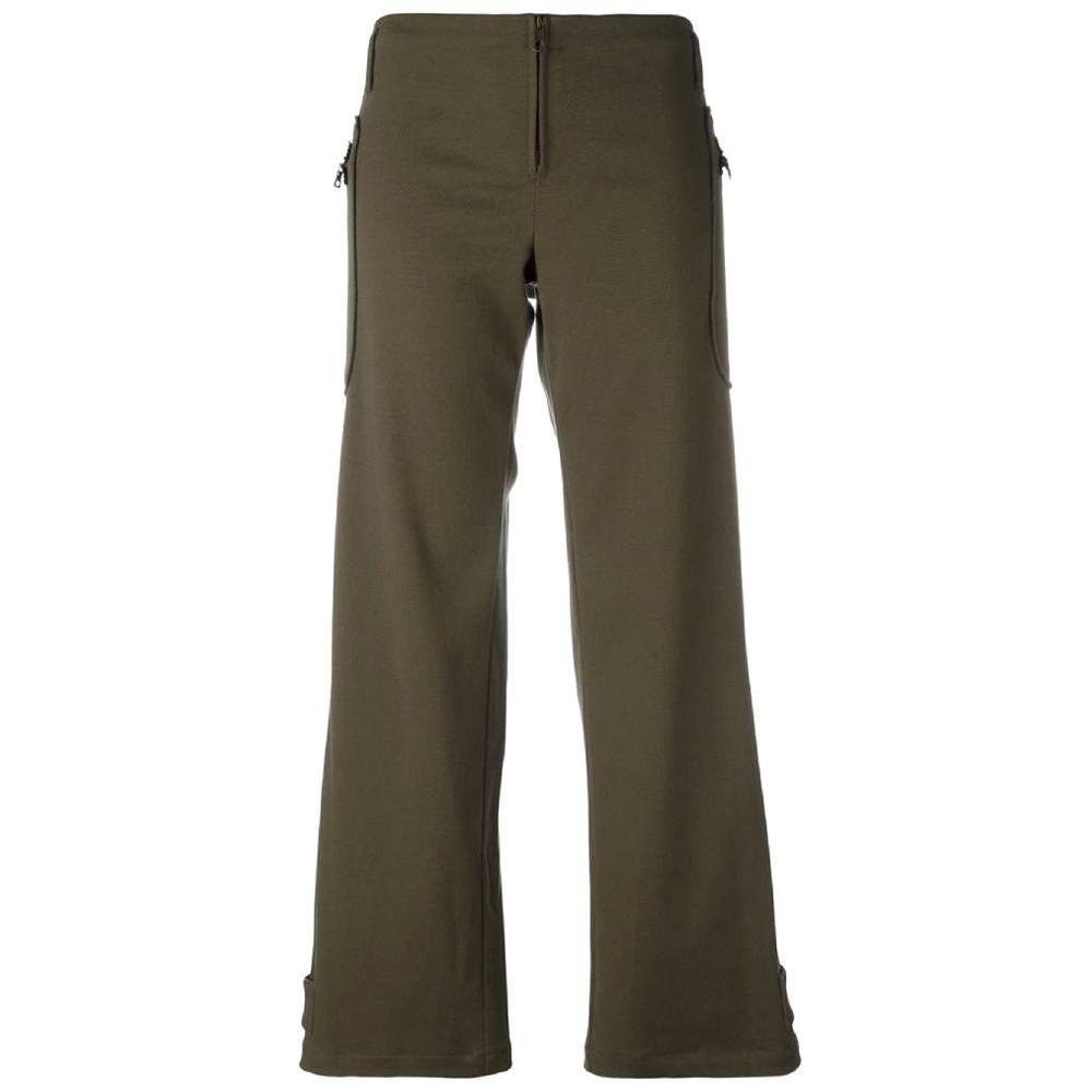 2000s Romeo Gigli Green Twill Trousers