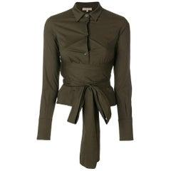 2000s Romeo Gigli Moss Green Shirt