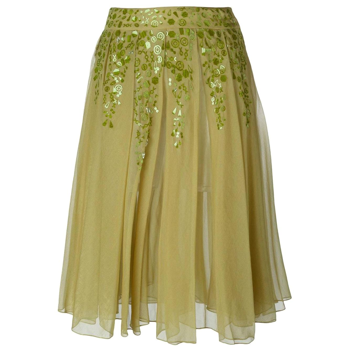 2000s Romeo Gigli Pleated Skirt