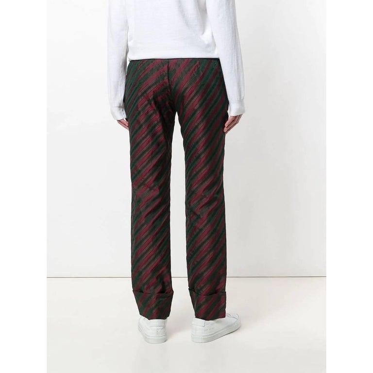 2000s Romeo Gigli Striped Trousers In Good Condition For Sale In Lugo (RA), IT